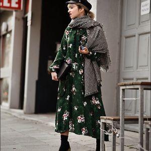 H&M Boho Dress Green Floral